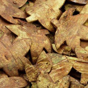 Bark Leaf Gold (Pack of 10)